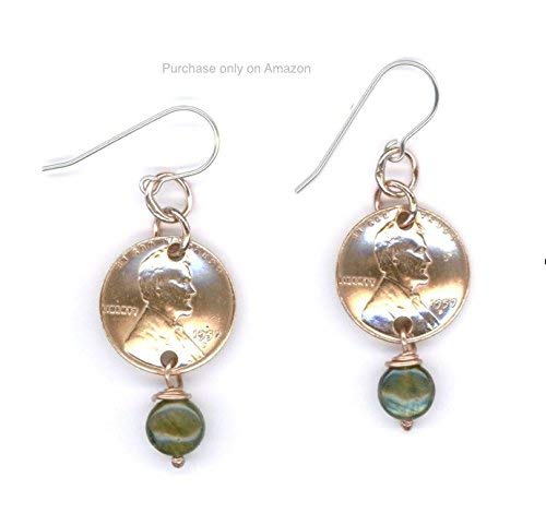 (1958 Jewelry Penny Earrings 61st Birthday Gift Labradorite Beads Unique Gifts For)