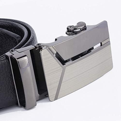 ベルト メンズレザー オートロック式バックル ベルト 穴無し ビジネス カジュアル 紳士ベルトサイズ調整可能 革ベルト