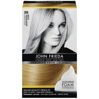 John Frieda Precision Foam Hair Colour, Medium Natural Blonde 8N, 2 pk