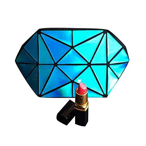 Géométrique Fermeture Éclair Téléphone Pour Lumineux Bleu Sac De Bandoulière Maquillage Avec Femme Main Sacs À Portable Laser A4xOv