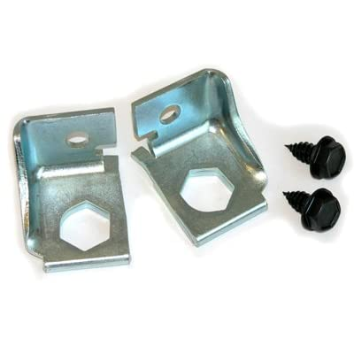 Inline Tube (E-2-5) Brake Hose Bracket Pair Compatible with 1969-72 GM A-body With Factory Disc Brake: Automotive