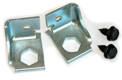 Inline Tube (E-2-5) Brake Hose Bracket Pair Compatible with 1969-72 GM A-body With Factory Disc Brake