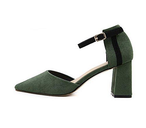 1TO9Mmsg00340 - Sandali con Zeppa Donna, Verde (Green), 35