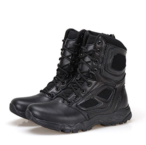 BE DREAMER Mens Lightweight Tactical Side-Zipe Boots,Black,US 10 by BE DREAMER (Image #3)