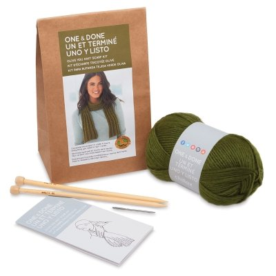 & Done Kits 606-174 Olive You Knit Scarf ()