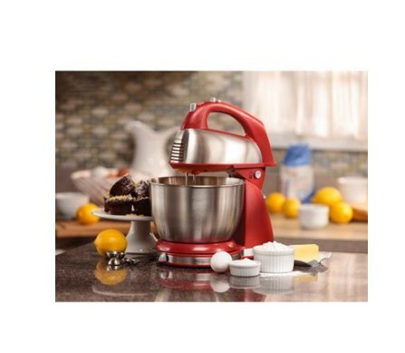 Appliances-Stand Mixer-Classic 4 Qt. Stand Mixer by Hamilton Beach -Color Red