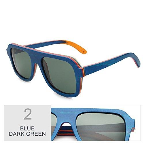 Real Sol 100 Gafas De Madera De Antirreflejante Gafas Bastidor De Café De Sol TIANLIANG04 Hombre Color Sol Dark De De Blue Polaroid Green Unisex Gafas Multicapa Gris En Gafas Madera wItqW1
