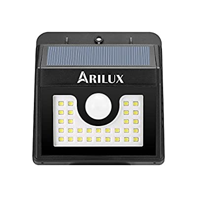 ARILUX Solar PIR Motion Sensor Light 2W 30 LED Waterproof Wireless Induction Lighting for Yard Garden,Patio,,Driveway,Fencing,Corridor and Outside Wall