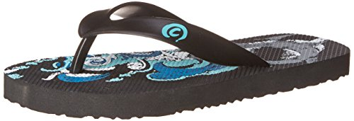 cobian Ships Ahoy Flip Flop , Black, 5 M US Big Kid