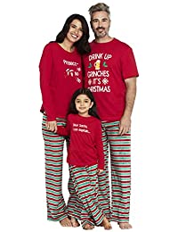 2cba3ac9b99d Women's Drink Up Grinches Family Matching Christmas Holiday Pajama Sets PJ