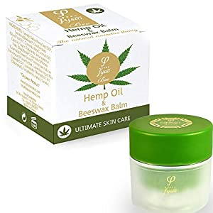 Fysio Organic Hemp Oil Beeswax Balm Body Face Moisturiser for Dry Skin | Complete Skincare Herbal Healing Ointment as Foot, Hand Cream | Relief for Itchy, Cracked, Sensitive, Irritated Skin | 50ml