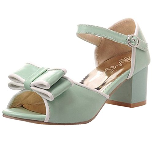 CoolCept 2016 Women Fashion Peep Toe Sandals Green qfR9kvKmC