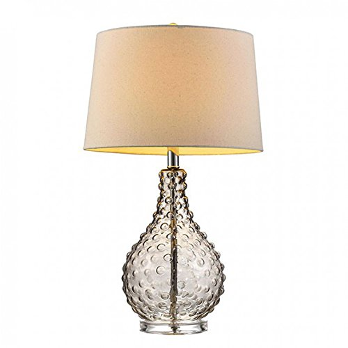 "Furniture of America L9710 Gia 27"" Textured Glass Table Lamp Miscellaneous-Others"
