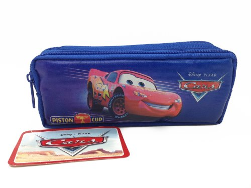 Disney Officially Licensed Single Zipper Pouch Blue Pencil Case - Cars
