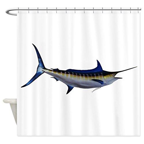 Marlin Steel Knife (JKYUKO Blue Marlin Fish Polyester Waterproof Shower Curtain 60