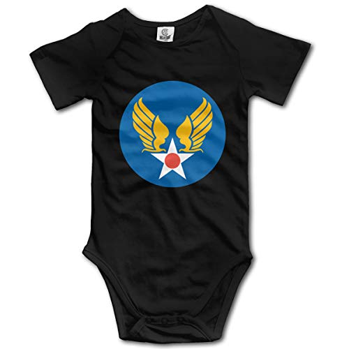 US Army Air Corps Hap Arnold Wings Baby Onesies Bodysuit Unisex Short-Sleeve Toddler Clothes Cute Black