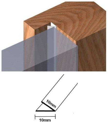 marrone V profilo PVC progetto di protezione striscia per lacune 1-8mm rotolo metri 6