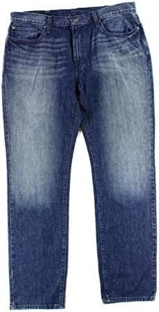 Nautica Mens 33x30 Classic Straight Leg Medium Wash Jeans Blue 33