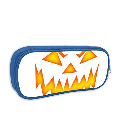 Scary Halloween Face Pencil Case Big Capacity Pencil Bag Makeup Pen Pouch Durable Stationery with Double Zipper Pen Holder for Office]()