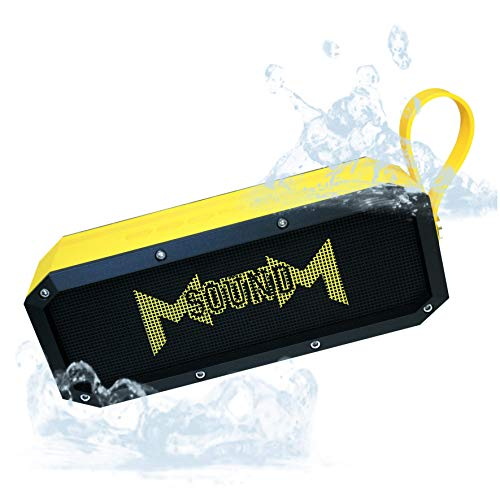 Bluetooth Speaker MSOUNDM XL, 20 watts Plus 10 watt Bass. IPX5 Rated Splash-Proof, Shock-Proof, Dust-Proof. 10 Hours of Playing Time, Battery Type 5200 mAh. Bluetooth Version 4.0 EDR