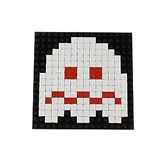 Strictly Briks Pac-Man & BANDAI NAMCO Entertainment Inc | Pac-Man Turn-to-White Ghost Pixel Brick Building Set - 163 Pieces