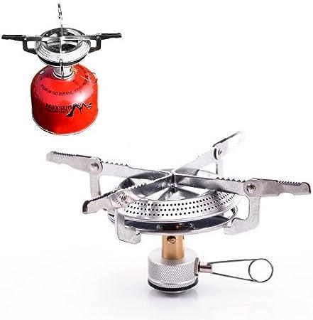 Housweety Mini picnic quemador de gas butano para cocina ...