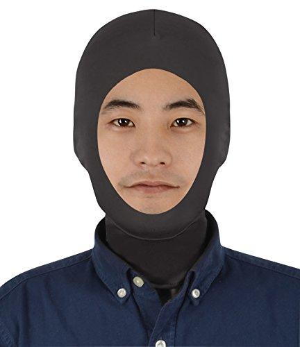 Sheface Spandex - Máscara para Disfraz de Campana para Adultos y niños, Negro, Adultos