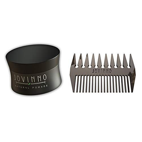 - Jovinno Hairstyling Gift Set Jovinno Premium Natural Pomade 5oz + Luxury Metal Hair & Beard Comb & Travel Bag