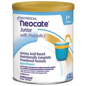 Neocate Junior with Prebiotics, Unflavored, 14.1 oz / 400 g (Case of 4 cans) by Neocate