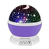 Starfly Baby Night LED Lámparas de luz para el dormitorio Romántico Estrella giratoria de 360 grados con cubierta de Sky Moon + Cosmos Cover Proyector Luces de cambio de color LED para niños Niños Niños Bebé Guardería Regalo