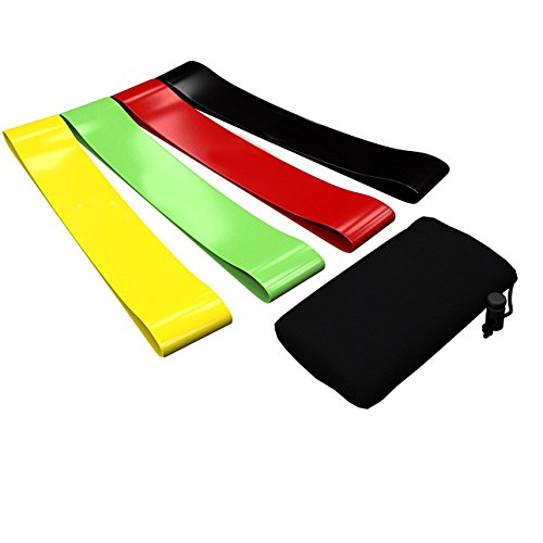 SAYFUT 4pcs Resistance Loop Band Exercise Yoga Bands Rubber