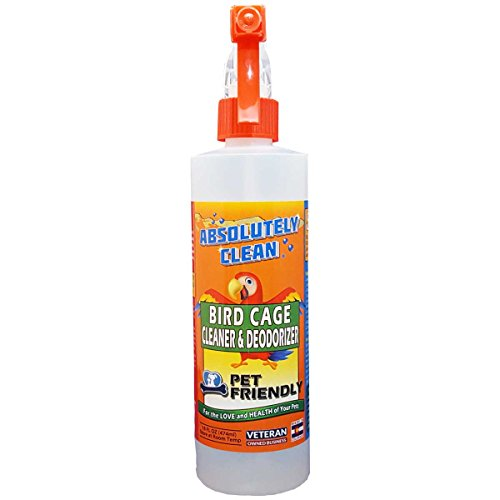 Absolutely Clean Bird Cage Cleaner and Deodorizer, Removes Bird Messes Quickly and Easily, Just Spray/Wipe