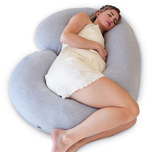 """Light Purple Legs 52/"""" U-Shaped Full Body Maternity Pillow for Pregnancy Women Sleeping with Washable Velvet Outer Cover Hips Pregnancy Pillow Support for Back Belly"""