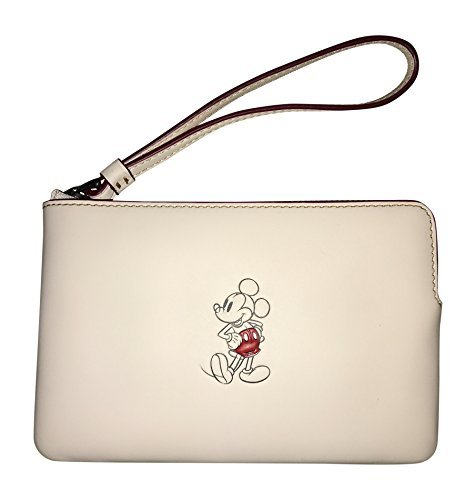 Coach Mickey Mouse Leather Wristlet Clutch - #f59528 by Coach