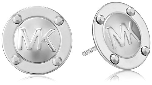 Michael Kors Silver Tone Astor Stud Earrings