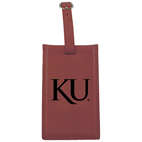 LXG, Inc. The University of Kansas-Leatherette Luggage Tag-Burgundy by LXG, Inc.