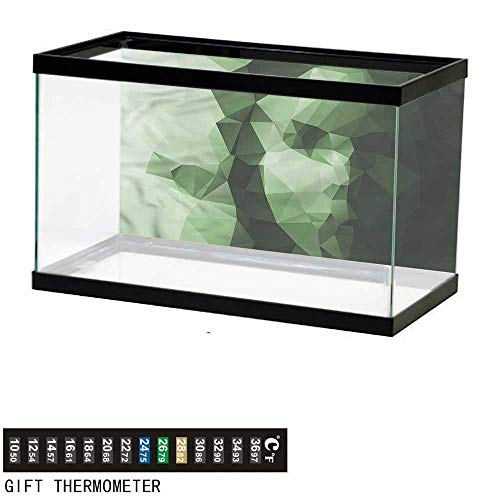 bybyhome Fish Tank Backdrop Geometric,Low Poly Woman Portrait,Aquarium Background,72