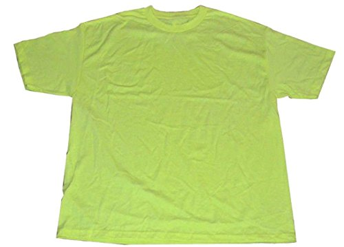 - Alstyle AAA Men's Solid Plain Tshirt T Shirts Large (Safety Neon Green)