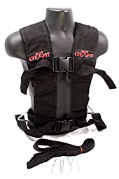 CFF Multi Purpose Sled Harness Vest - Black/Red - Small/Medium