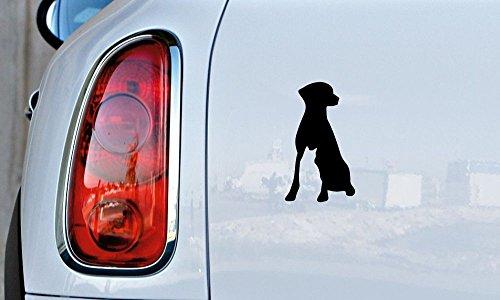 Dog Cat Combination Silhouette Version 7 Car Vinyl Sticker Decal Bumper Sticker for Auto Cars Trucks Windshield Custom Walls Windows Ipad Macbook Laptop and More (BLACK) ()