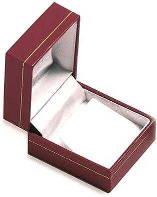 Rojo-ERIC pendientes-Caja para regalo, joyas de imitación de piel: Amazon.es: Joyería