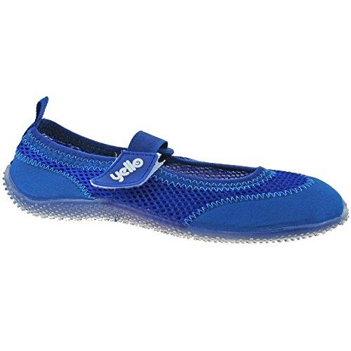LADIES YELLO STRAPPY AQUA SOCKS BEACH SHOES SIZE UK 3 - 8 PINK BLUE PURPLE FW929 Royal Blue