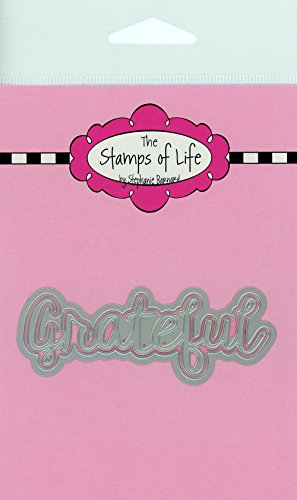 The Stamps of Life Grateful Word Die Cuts for Card Making Scrapbooking by Stephanie Barnard - Thank You Sentiments -