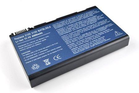Laptop battery Acer BATBL50L6 6 Cells 11.1V 4400mAh/49wh, compatible partnumbers: BATBL50L6, LC.BTP01.017, BATBL50L8H, BATCL50L6, BATBL50L4, BATBL50L6H, BATBL50L8H, fit models: Acer Aspire 3100 Serie
