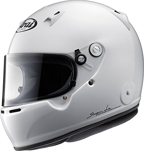 Arai Men's Full-face Style GP-5W M6 SAH-2015 Helmet (White, X-Large)