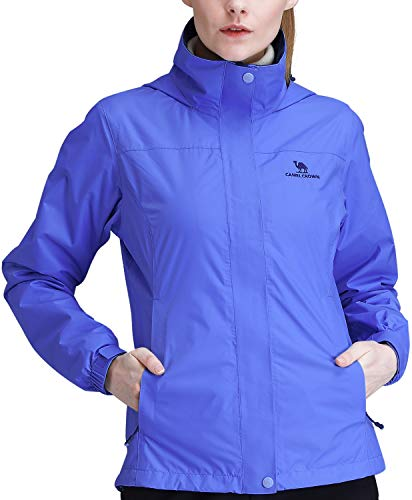 CAMEL CROWN Womens Waterproof Rain Jacket Hooded...