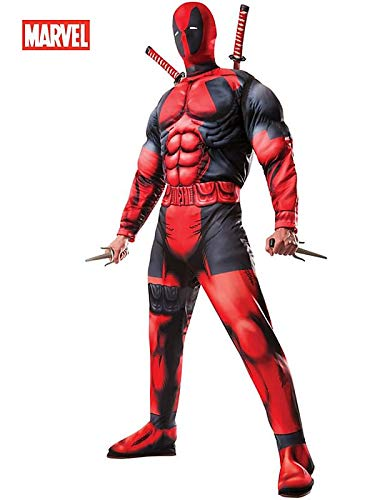 Rubie's Costume Co Marvel Men's Universe Classic Muscle Chest Deadpool Costume ()