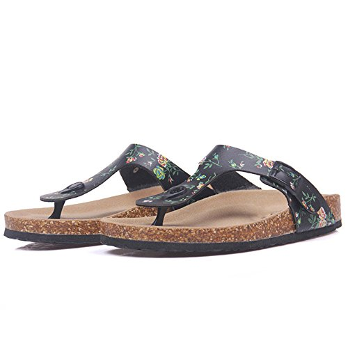 Shoe 1 Flops on Flip Cork Slip Slipper Casual ZHOUZJ Beach Women Slides Summer gPZWwq