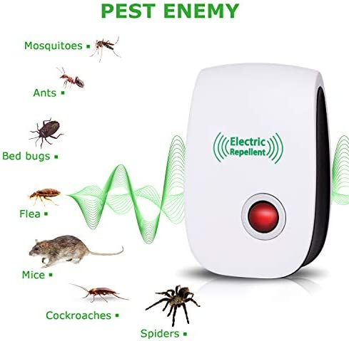 2020 Newest Ultrasonic Electronic Pest Repellent, Pest Repeller Plug in Indoor Usage, Best Pest Repell to Bugs, Insects Mice, Ants, Mosquitoes, Spiders, Rodents and Roach(6 Packs) 414FszH7kOL