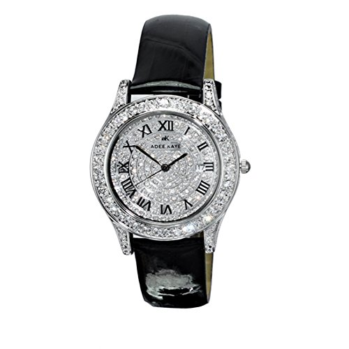Adee Kaye Rhines Crystal Pave Dial Ladies Watch AK9257-L